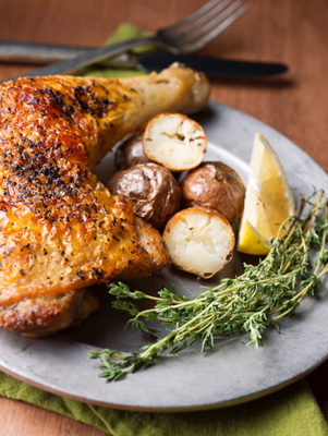 Quick Braised Chicken with Rosemary & Potatoes Thumbnail
