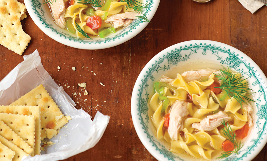 Paula Deen Cuts the Fat, 250 Favorite Recipes All Lightened Up, Exclusive: Down-Home Chicken Noodle Soup