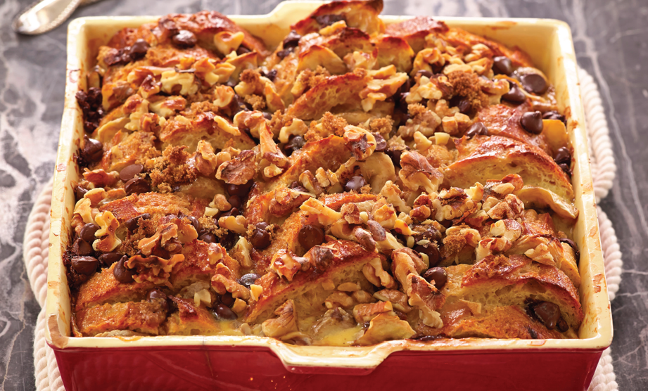 Paula Deen Cuts the Fat, 250 Favorite Recipes All Lightened Up, Exclusive: Chocolate-Banana-Walnut Bread Pudding