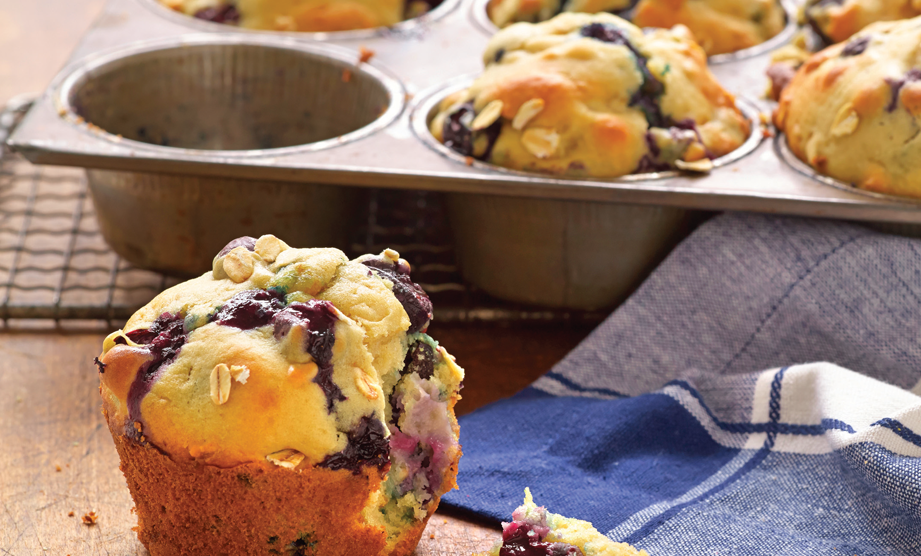 Paula Deen Cuts the Fat, 250 Favorite Recipes All Lightened Up, Exclusive: Oat Muffins with Blueberries