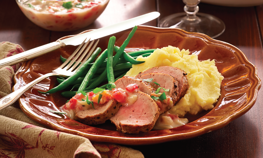 Paula Deen Cuts the Fat, 250 Favorite Recipes All Lightened Up, Exclusive: Pan-Seared Pork Loin with Tomato Gravy