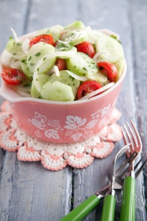 Aunt Peggy's Cucumber, Tomato and Onion Salad Thumbnail