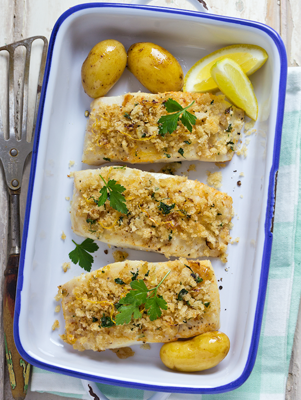 Baked Bass with Romano Cheese Thumbnail