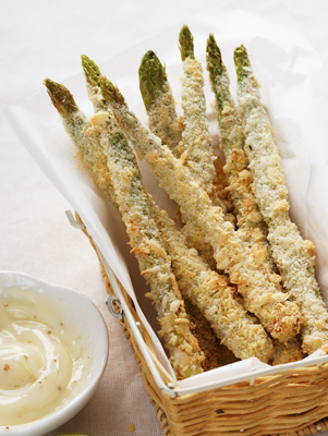 Fried Asparagus with Creole Mustard Sauce Thumbnail