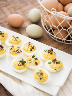 Goat Cheese Stuffed Eggs Thumbnail