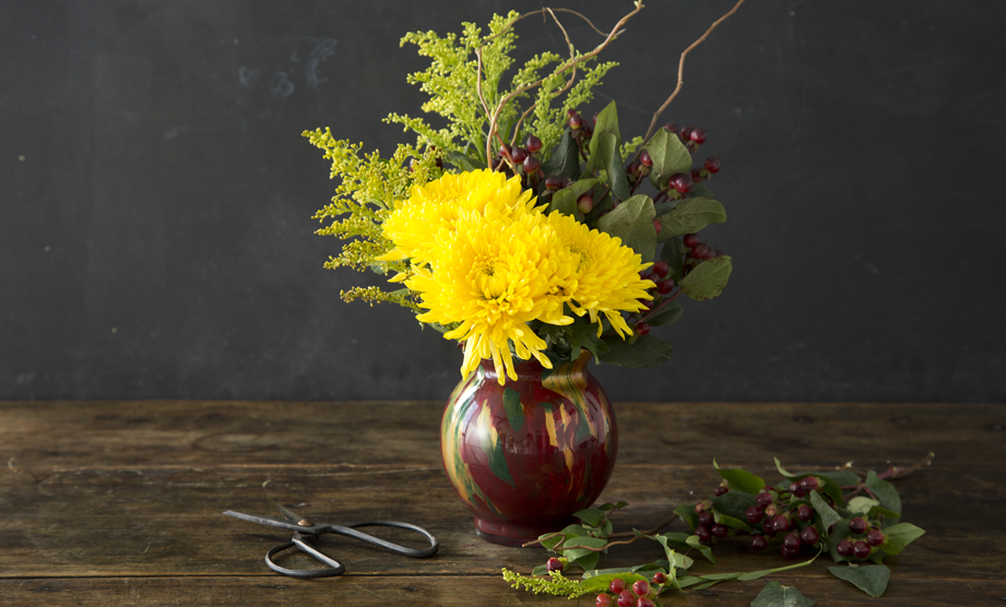 How To: Fall Floral Vase