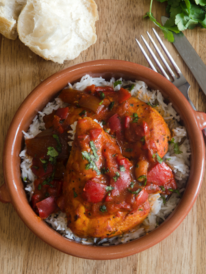 Chicken with Cocoa Tomato Sauce Thumbnail