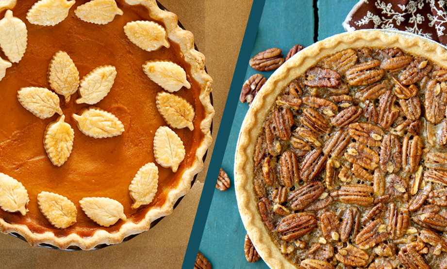 Battle of the Pies: Pumpkin vs. Pecan