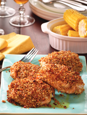 Pecan-Crusted Chicken Thighs Thumbnail