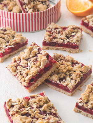Spiced Cranberry Pecan Bars Thumbnail