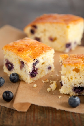 Lighter Sweet Orange and Blueberry Cornbread Thumbnail