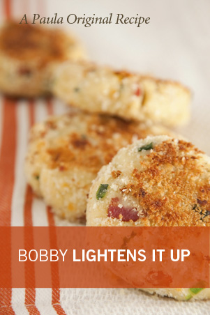 Bobby's Lighter Smashed Potato Cakes Thumbnail