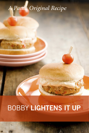 Bobby's Lighter Chicken Creole Burgers with Bayou Mayo Thumbnail