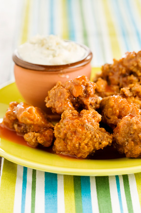 Buffalo Chicken Livers with a Blue Cheese Dipping Sauce Thumbnail
