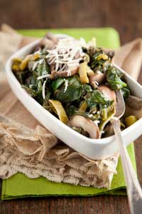 Buttery Spinach and Mushrooms Thumbnail