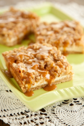 Lighter Caramel Apple Cheesecake Bars Thumbnail