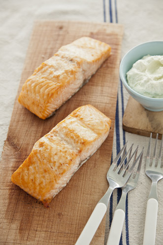 Cedar Salmon with Wasabi Dip Thumbnail
