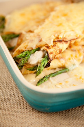 Chicken and Asparagus Crepes Thumbnail