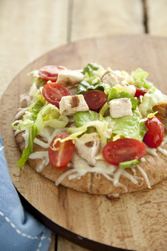Chicken Caesar Pita Pizza Thumbnail