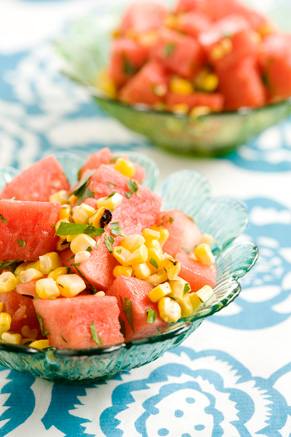 Chilled Grilled Corn and Watermelon Salad Thumbnail