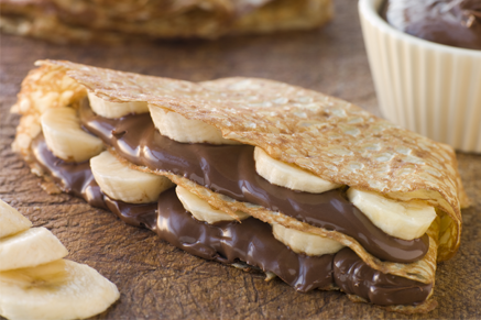 Chocolate-Banana filled Crepes Thumbnail