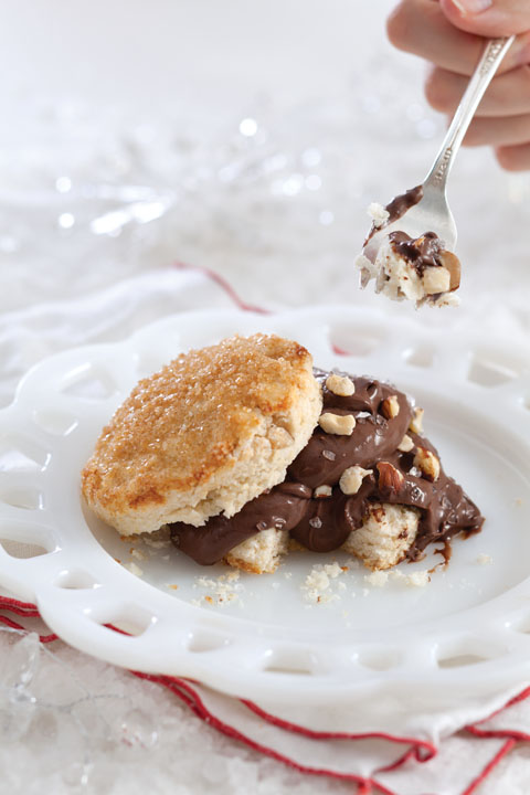 Salted Chocolate Pudding and Hazelnut Shortcakes Thumbnail