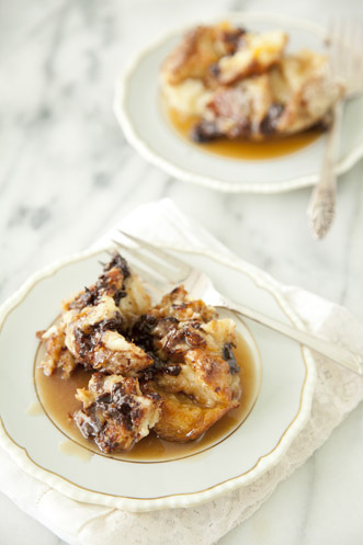 Chocolate Bread Pudding With Rum Toffee Sauce Thumbnail