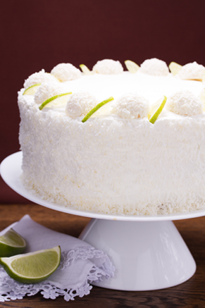 Southern Coconut Cake With  Minute Frosting