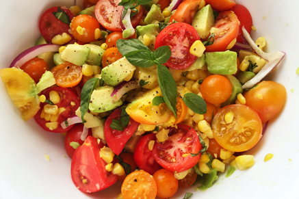 Corn, Avocado, and Tomato Salad Thumbnail