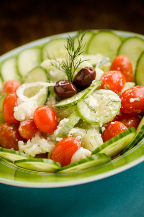 Creamy Greek Cucumber Salad Thumbnail