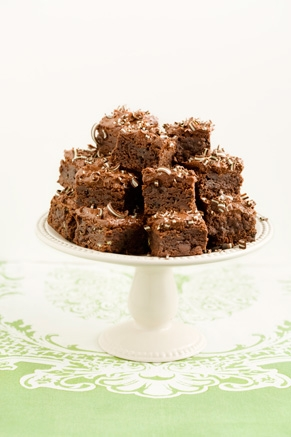 Lighter Creme de Menthe Brownies Thumbnail