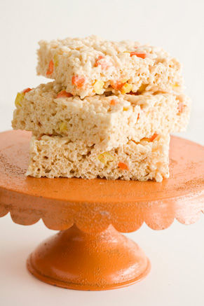 Crispy Rice Candy Corn Treats Thumbnail