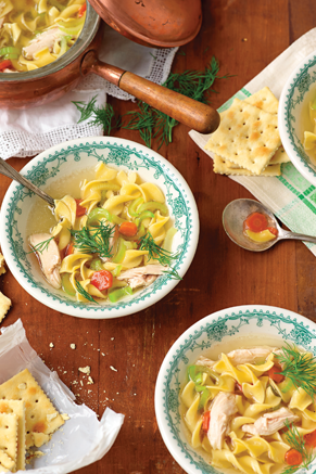 Paula Deen Cuts the Fat: Down-Home Chicken Noodle Soup Thumbnail