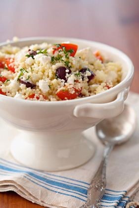 Couscous Salad with Feta, Tomato, and Olives Thumbnail