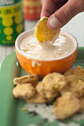 Deep-Fried Pickles with Honey-Mustard Dipping Sauce Thumbnail