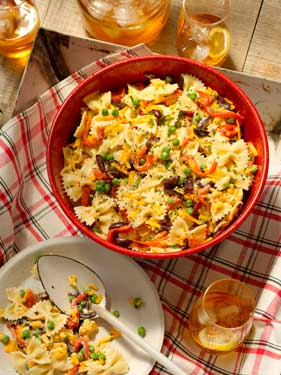 Grilled Red Pepper and Bow-tie Pasta Salad Thumbnail