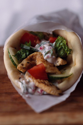 Marinated Chicken Gyro Wraps Thumbnail