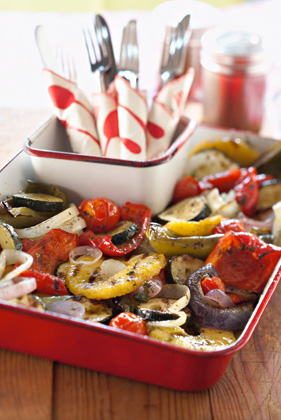 Mixed Grilled Veggies in a Basket Thumbnail