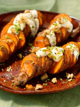 Sweet Potato Coins with Creamy Honey Drizzle Thumbnail