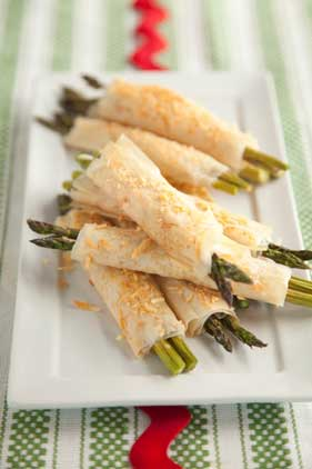 The Deen Bros. Lighter Ham and Cheese Phyllo-Wrapped Asparagus Thumbnail