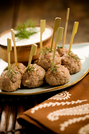 Easy Lamb Meatballs with Cucumber Dill Dipping Sauce Thumbnail