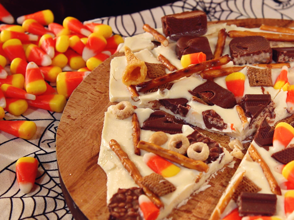 Candy Corn and Snack Mix Bark Thumbnail
