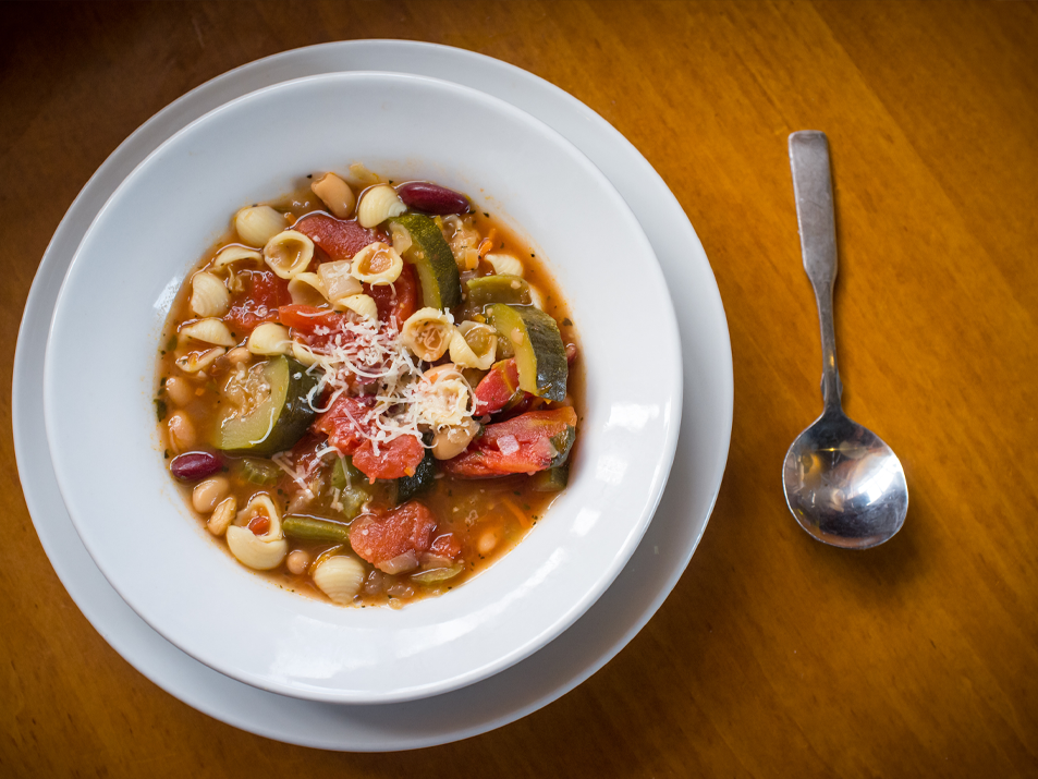 Minestrone with Pumpkin and Fall Vegetables Thumbnail
