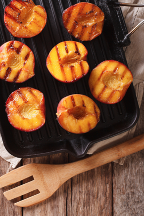 Grilled Peach Halves with a Peach Pecan Dressing Thumbnail