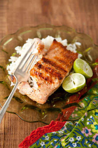 Grilled Salmon With Key Lime Butter Thumbnail