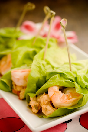 Lime Shrimp Lettuce Wraps Thumbnail
