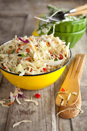 Peppery Coleslaw with Orange Chili Vinaigrette Thumbnail