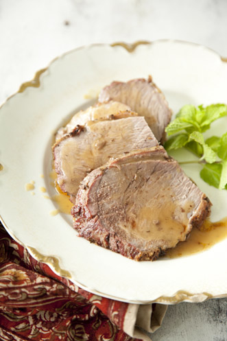 Roast Lamb with Bourbon and Mint Thumbnail