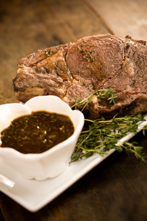 Roast Prime Rib of Beef with a Rich Pan Sauce Thumbnail