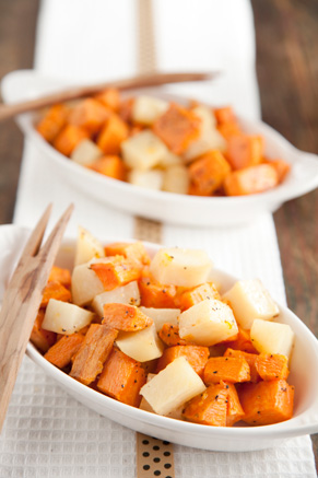 Roasted Sweet Potatoes and White Potatoes Thumbnail